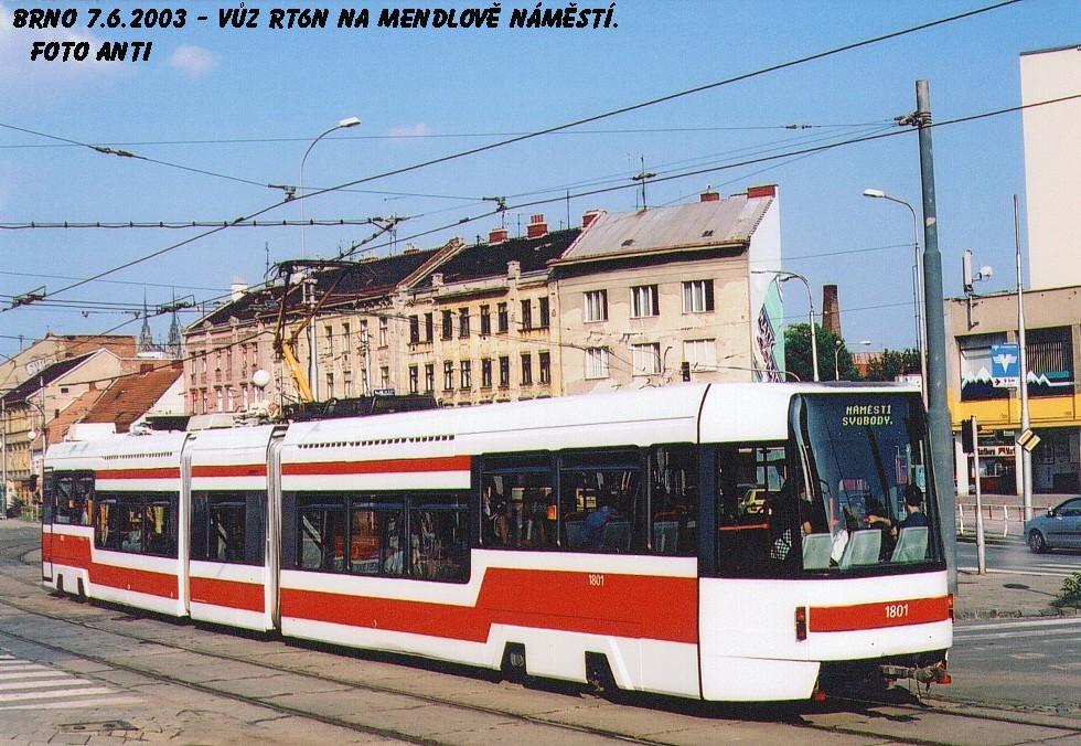 Fotogalerie » ČKD DS RT6N1 1801 | Brno | Staré Brno | Mendlovo náměstí