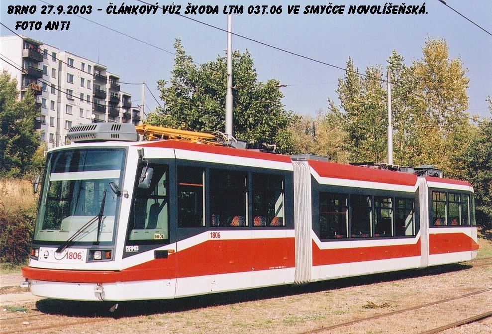 Fotogalerie » Škoda 03T6 1806 | Brno | Líšeň | Novolíšeňská, smyčka