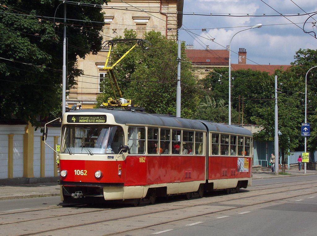 Fotogalerie » ČKD Tatra K2P 1062   Brno   Veveří   Údolní
