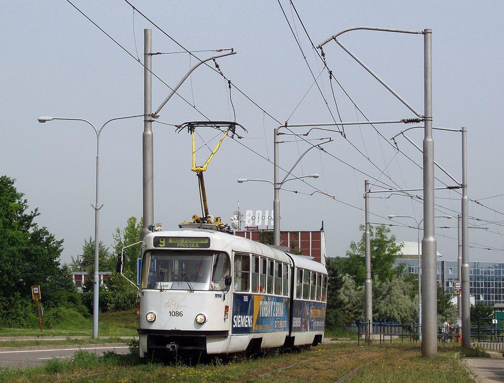 Fotogalerie » ČKD Tatra K2P 1086 | Brno | Černá Pole | třída Generála Píky