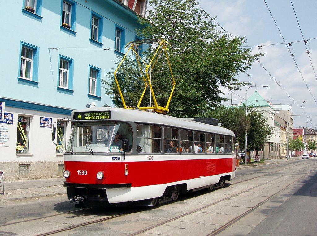 Fotogalerie » ČKD Tatra T3M 1530 | Brno | Husovice | Nováčkova | Vozovna Husovice