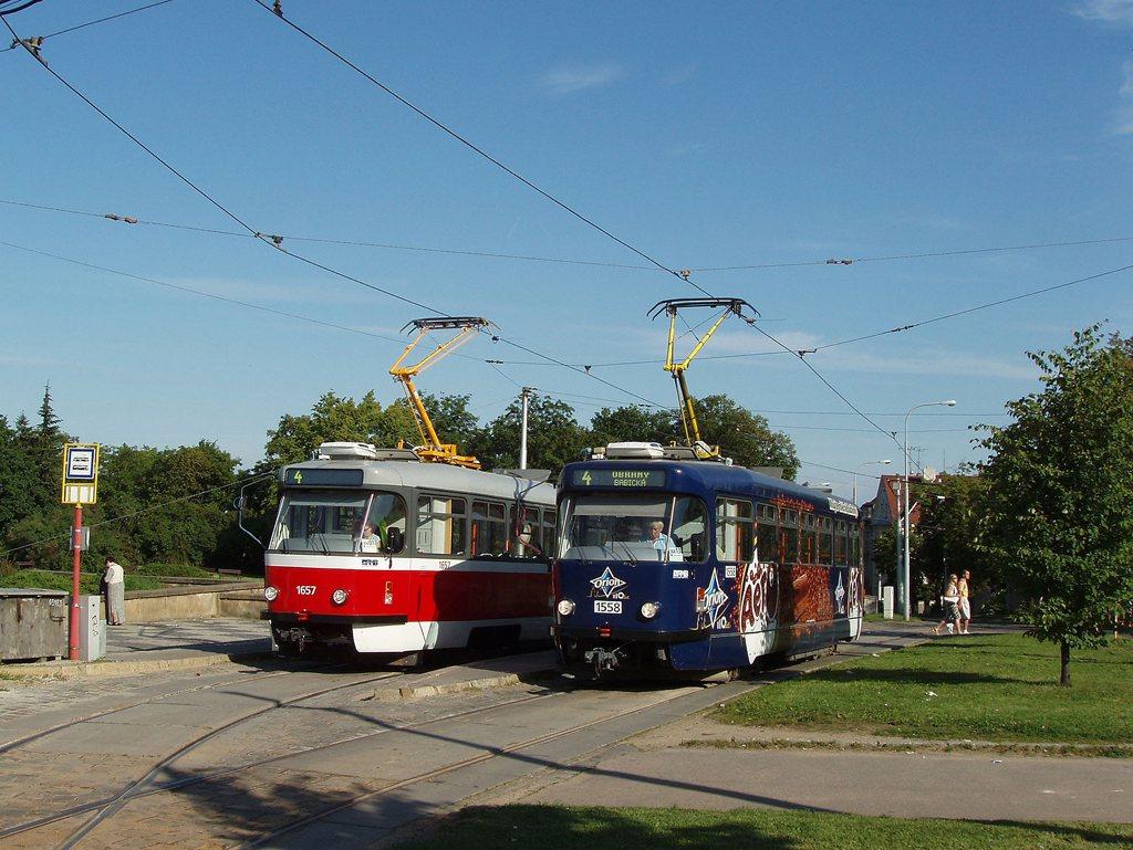Fotogalerie » Pragoimex T3R.PV 1558 | Pragoimex T3R.PV 1657 | Brno | Masarykova čtvrť | Náměstí míru | Náměstí Míru, smyčka