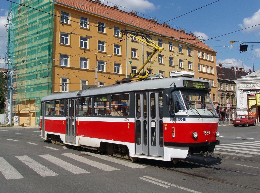 Fotogalerie » ČKD Tatra T3P 1589 | Brno | Staré Brno | Křížová