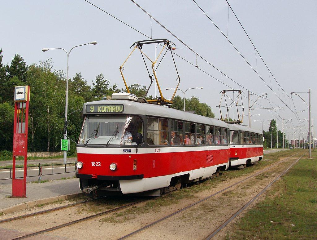 Fotogalerie » ČKD Tatra T3P 1622 | ČKD Tatra T3P 1623 | Brno | Černá Pole | třída Generála Píky | Lesnická