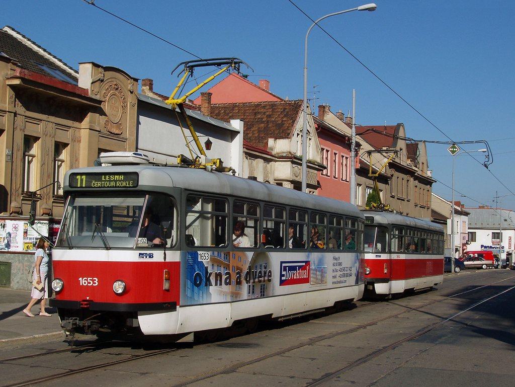 Fotogalerie » Pragoimex T3R.PV 1653 | Pragoimex T3R.PV 1654 | Brno | Žabovřesky | Minská | Tábor