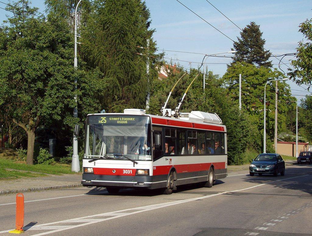 Fotogalerie » Škoda 21Tr 3031 | Brno | Kohoutovice | Libušino údolí