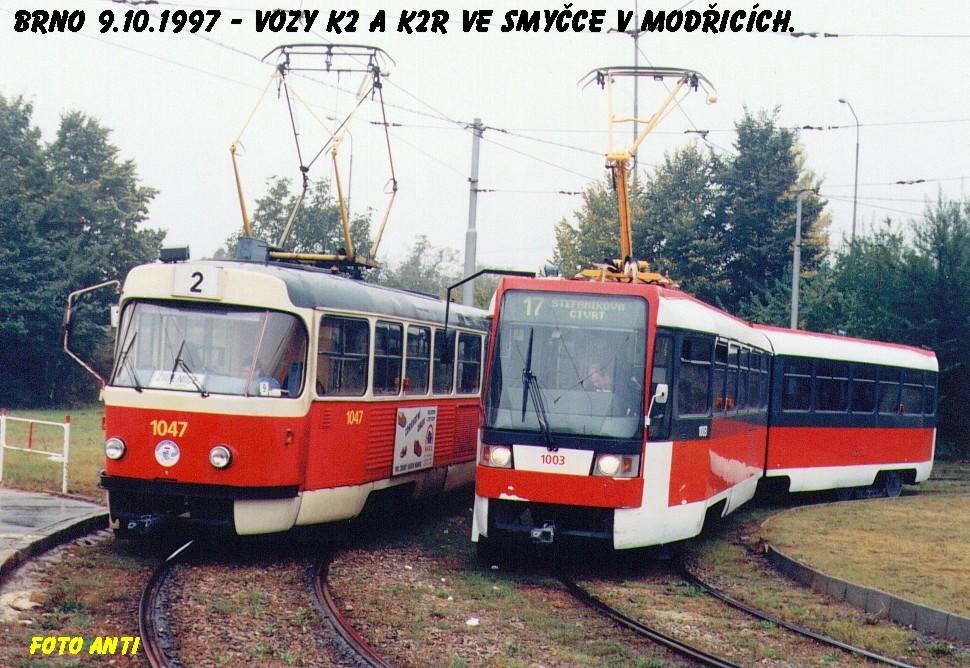 Fotogalerie » ČKD Tatra K2R 1003 | ČKD Tatra K2 1047 | Modřice