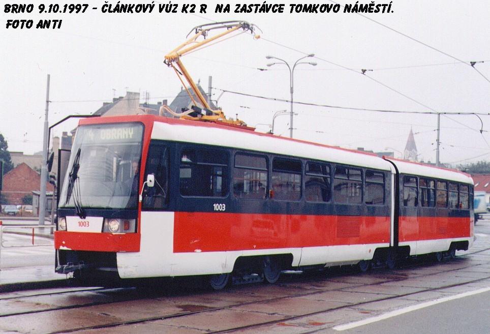 Fotogalerie » ČKD Tatra K2R 1003 | Brno | Husovice | Tomkovo náměstí | Tomkovo náměstí