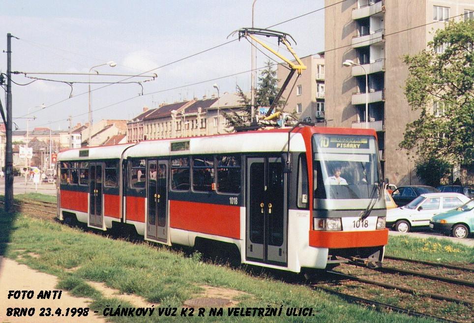Fotogalerie » ČKD Tatra K2R 1018 | Brno | Staré Brno | Veletržní