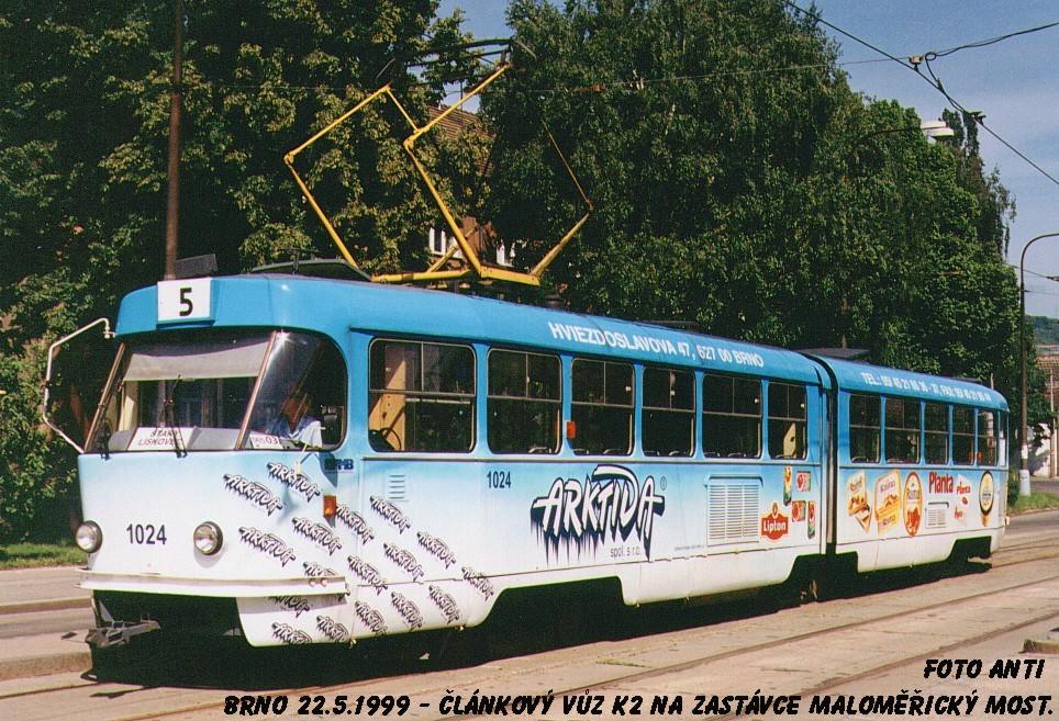Fotogalerie » ČKD Tatra K2 1024 | Brno | Maloměřice | Dolnopolní | Maloměřický most