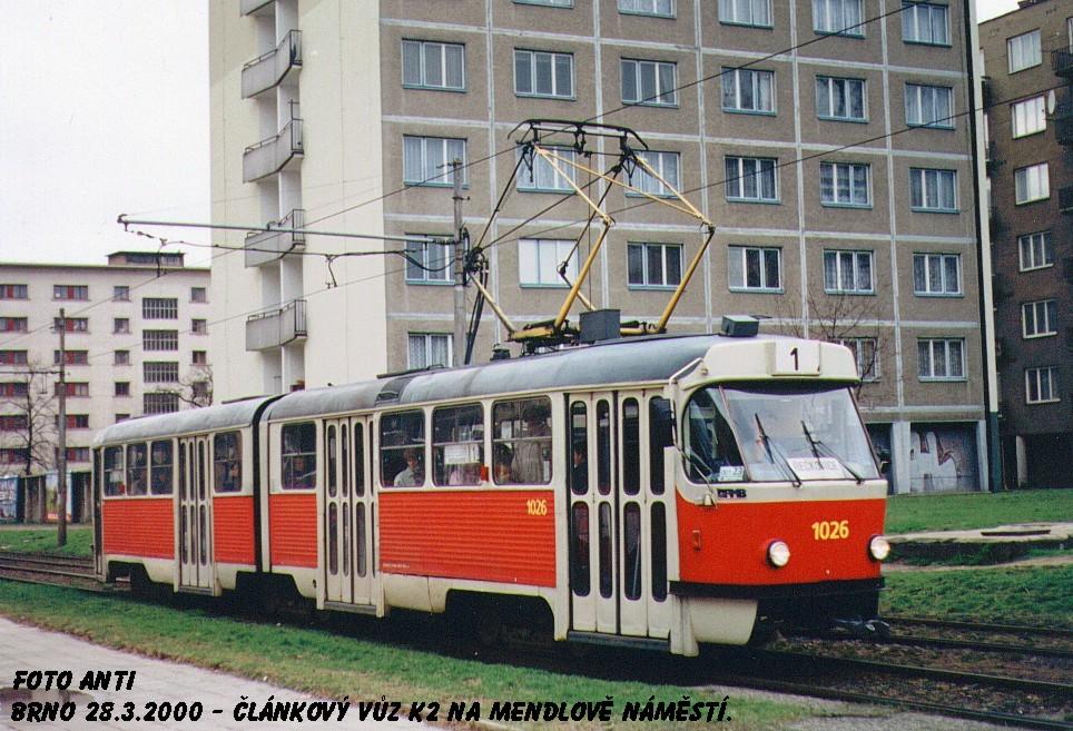 Fotogalerie » ČKD Tatra K2 1026   Brno   Staré Brno   Veletržní