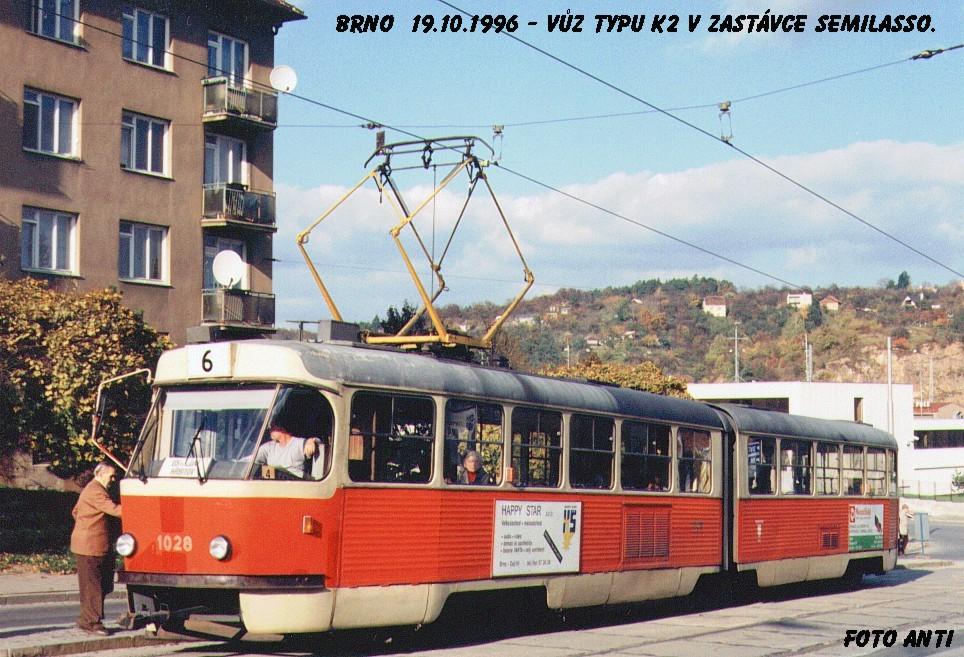 Fotogalerie » ČKD Tatra K2 1028   Brno   Královo Pole   Kosmova   Semilasso