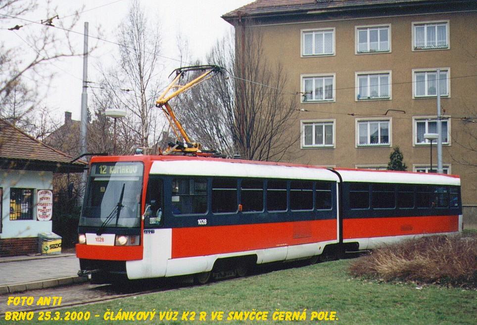 Fotogalerie » ČKD Tatra K2R 1028 | Brno | Černá Pole | Zemědělská