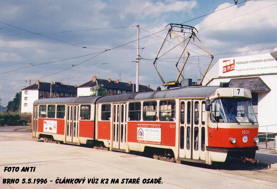 Fotogalerie » ČKD Tatra K2 1031 | Brno | Židenice | Stará Osada