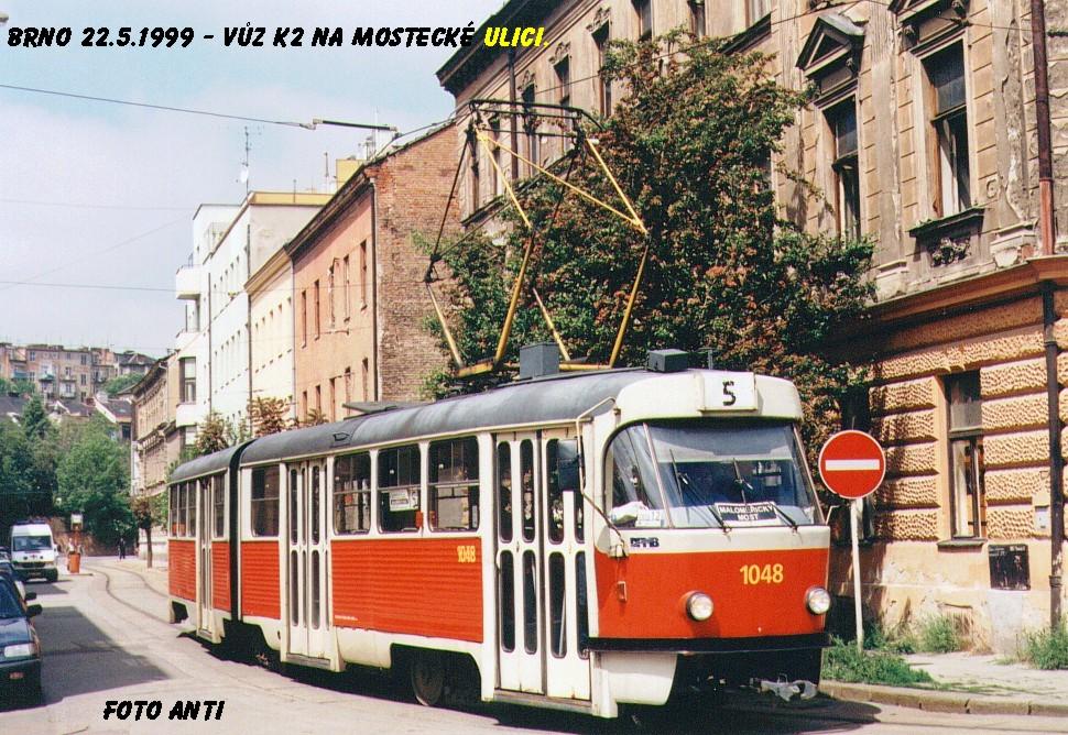 Fotogalerie » ČKD Tatra K2 1048 | Brno | Husovice | Mostecká