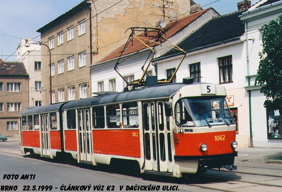 Fotogalerie » ČKD Tatra K2MM 1062 | Brno | Husovice | Dačická