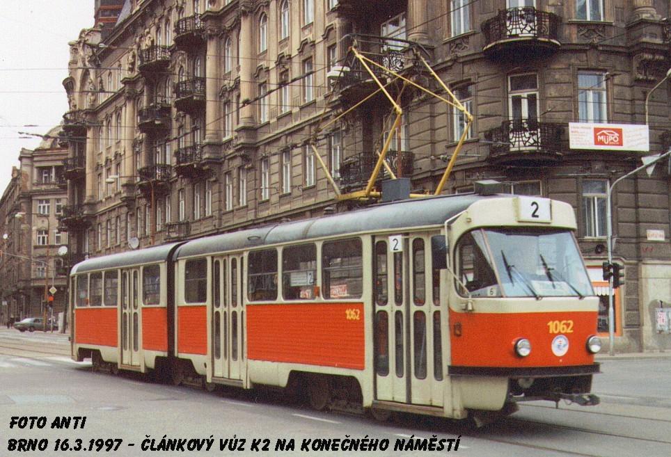 Fotogalerie » ČKD Tatra K2MM 1062 | Brno | střed | Veveří