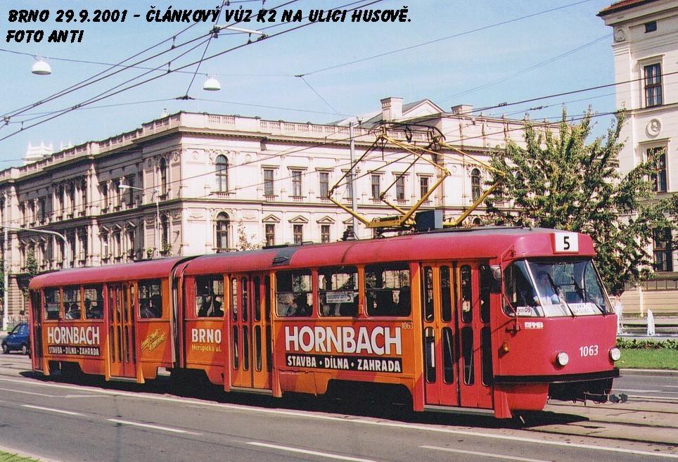 Fotogalerie » ČKD Tatra K2MM 1063 | Brno | střed | Husova