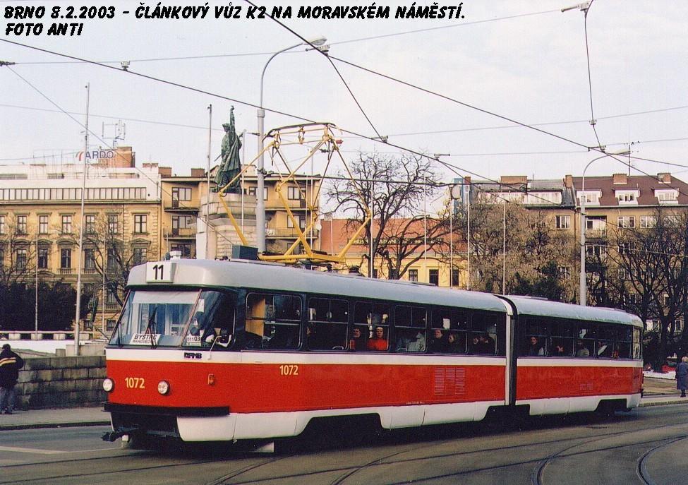 Fotogalerie » ČKD Tatra K2 1072 | Brno | střed | Moravské náměstí