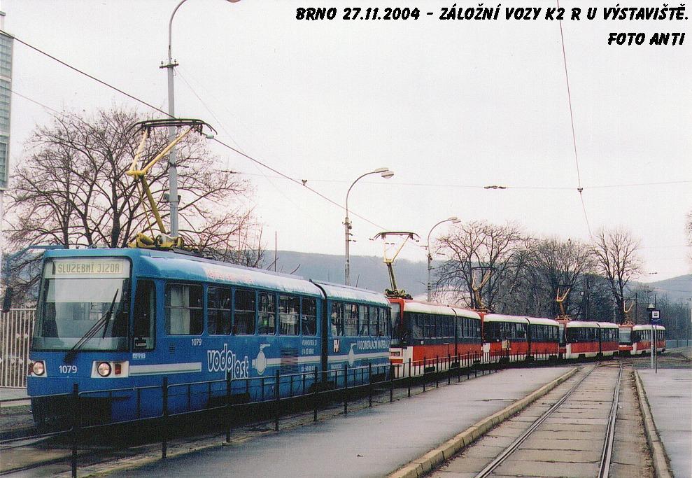 Fotogalerie » ČKD Tatra K2R03 1079 | ČKD Tatra K2R03 1081 | Brno | Staré Brno | Výstaviště