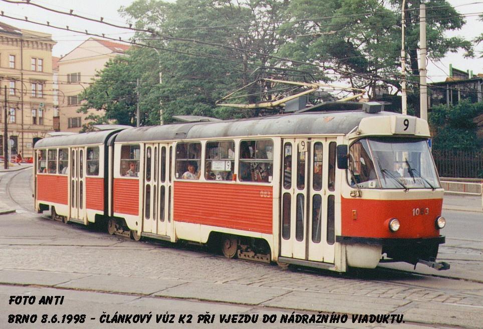 Fotogalerie » ČKD Tatra K2 1083 | Brno | střed | Nádražní