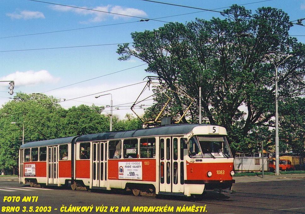 Fotogalerie » ČKD Tatra K2 1083 | Brno | střed | Moravské náměstí
