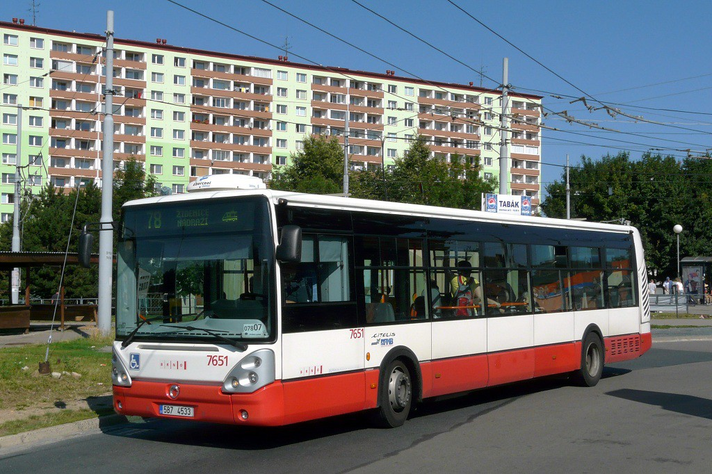 Fotogalerie » Irisbus Citelis 12M 5B7 4533 7651   Brno   Židenice   Stará Osada