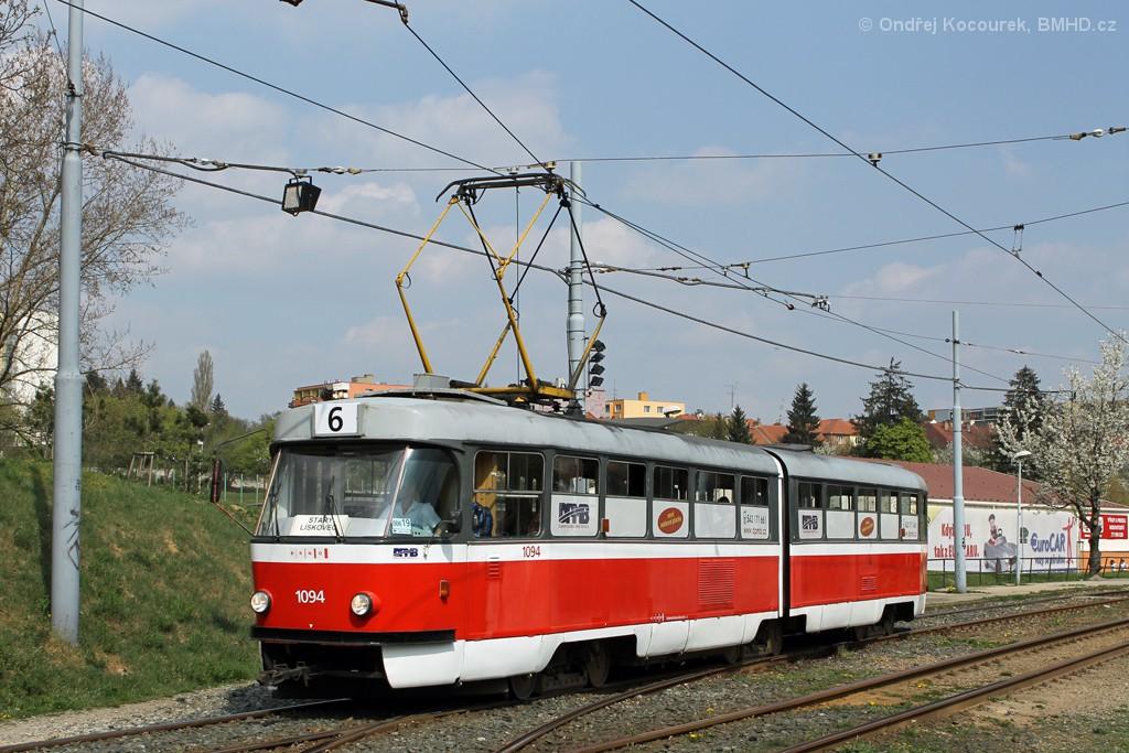 Fotogalerie » ČKD Tatra K2 1094 | Brno | Bohunice | Dlouhá