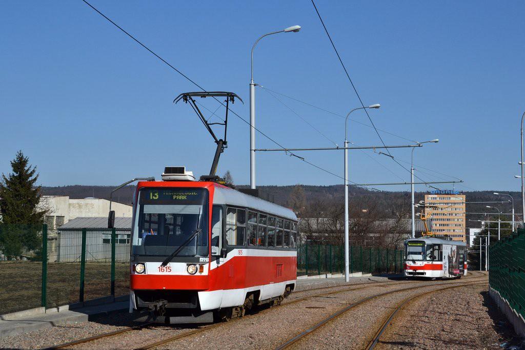 Fotogalerie » ČKD Tatra T3R 1615 | Brno | Medlánky | Technologický park, smyčka