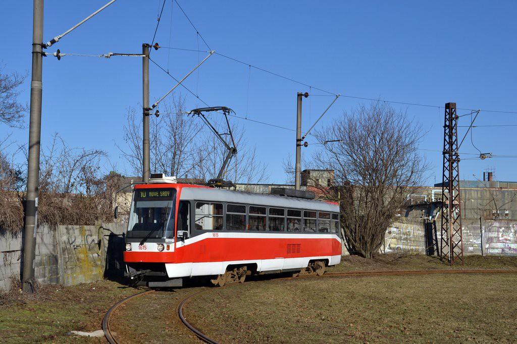 Fotogalerie » ČKD Tatra T3R 1615 | Brno | Stránská skála | Stránská skála, smyčka