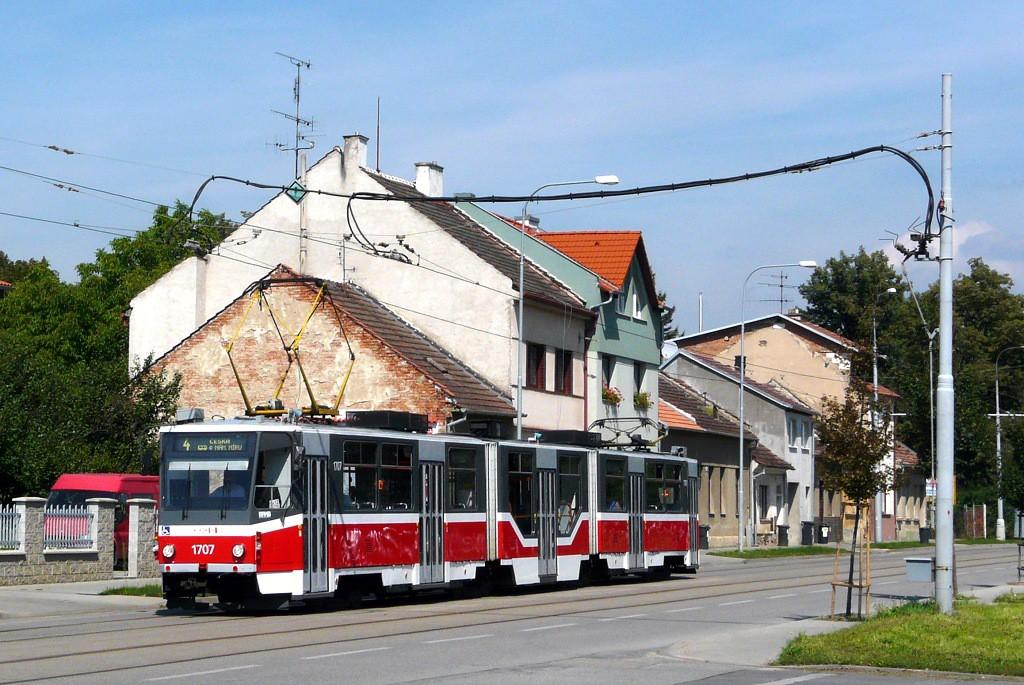Fotogalerie » ČKD Tatra KT8D5R.N2 1707 | Brno | Maloměřice | Obřanská