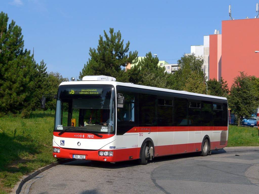 Fotogalerie » Irisbus Crossway LE 12M 7B3 3922 7812 | Brno | Starý Lískovec | Labská | Labská