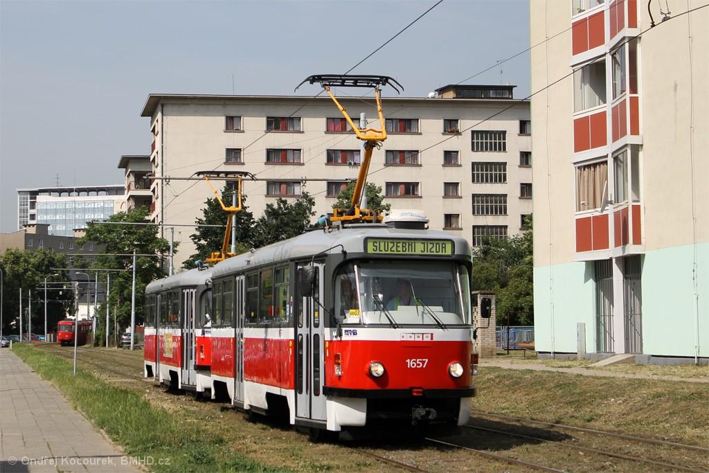Fotogalerie » Pragoimex T3R.PV 1657 | Pragoimex T3R.PV 1658 | Brno | Staré Brno | Veletržní