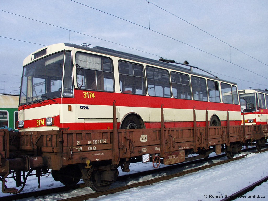 Fotogalerie » Škoda 14Tr01 3174 | Brno | Trnitá | Dolní nádraží