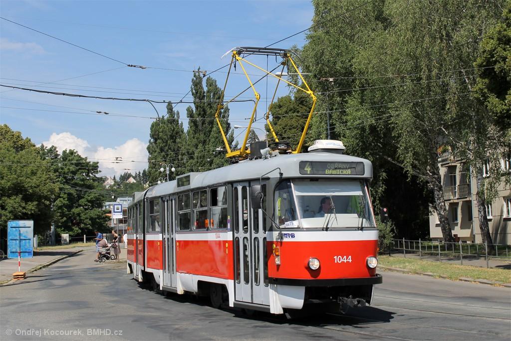 Fotogalerie » ČKD Tatra K2T 1044 | Brno | Maloměřice | Dolnopolní