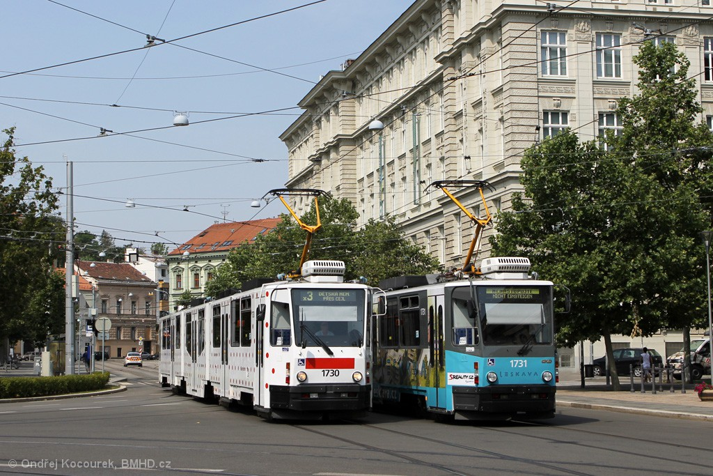 Fotogalerie » ČKD Tatra KT8D5N 1730 | ČKD Tatra KT8D5N 1731 | Brno | střed | Joštova