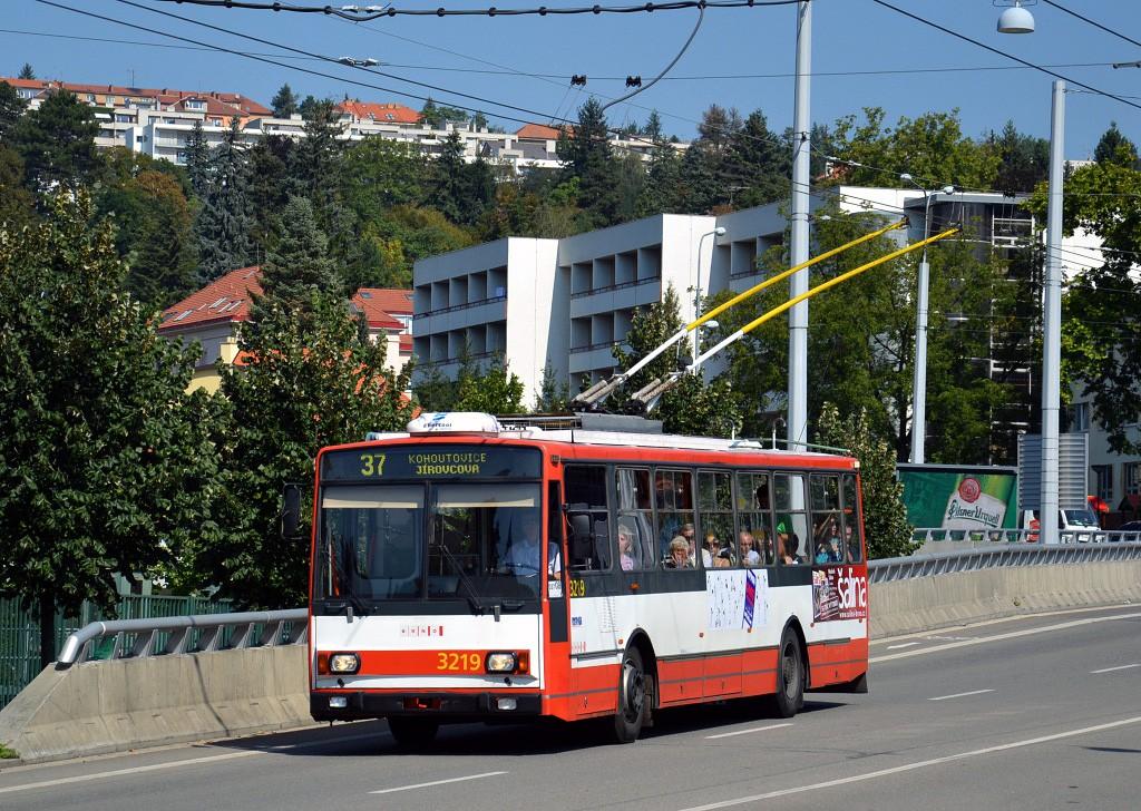 Fotogalerie » Škoda 14TrR 3219 | Brno | Pisárky | Pisárecká