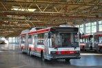 Vůz 3605 pózuje na ploše pro odstavování trolejbusů