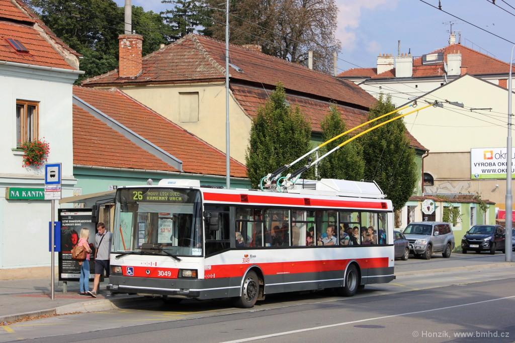 Fotogalerie » Škoda 21Tr 3049 | Brno | Staré Brno | Hlinky | Výstaviště, Hlavní vstup