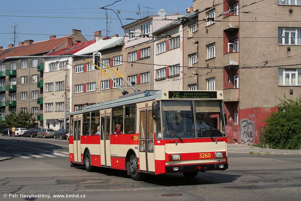Fotogalerie » Škoda 14Tr14 3260   Brno   Černá Pole   Provazníkova
