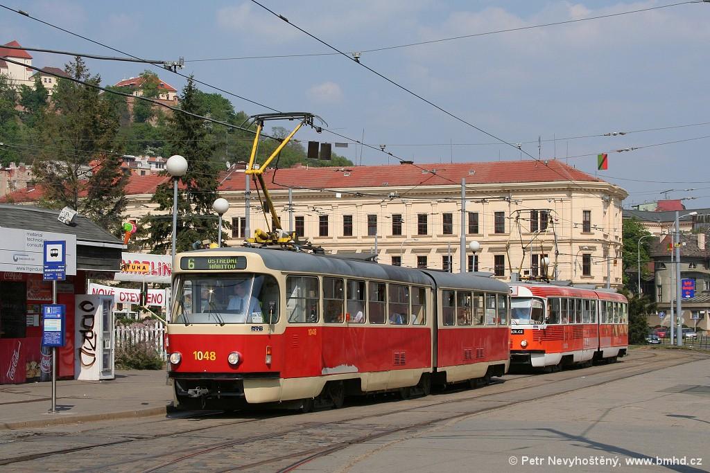 Fotogalerie » ČKD Tatra K2P 1048 | Brno | Staré Brno | Mendlovo náměstí | Mendlovo náměstí