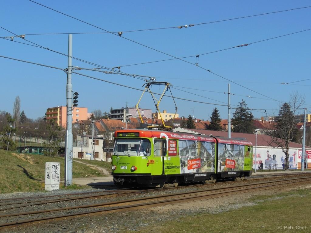 Fotogalerie » ČKD Tatra K2 1125   Brno   Bohunice