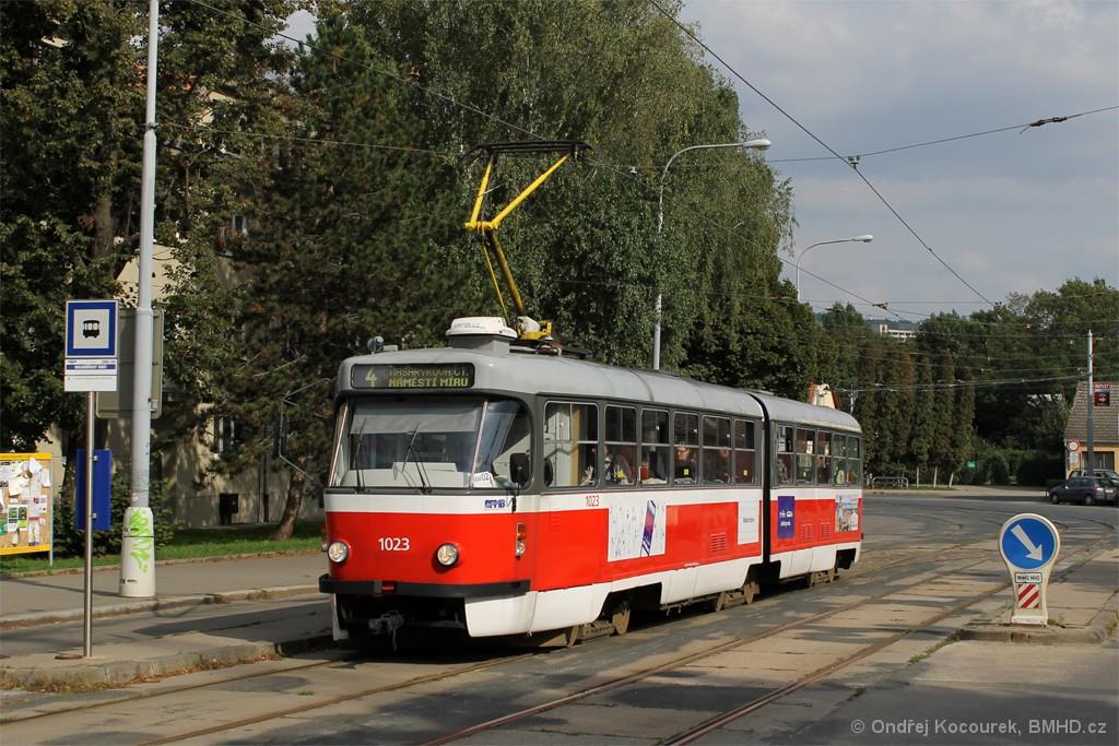 Fotogalerie » ČKD Tatra K2P 1023 | Brno | Maloměřice | Dolnopolní | Maloměřický most