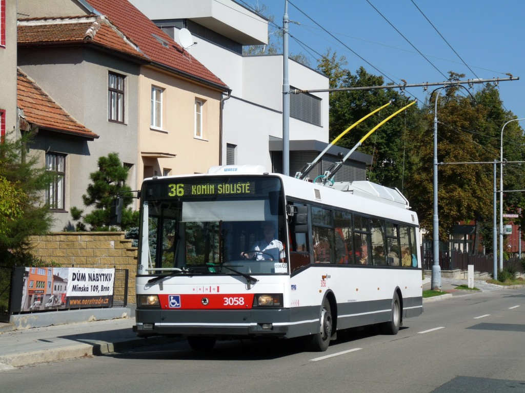 Fotogalerie » Škoda 21TrAC 3058 | Brno | Žabovřesky | Kroftova