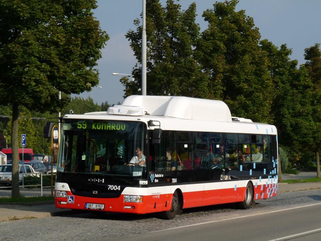 Fotogalerie » SOR NBG 12 9B7 9167 7004 | Brno | Brněnské Ivanovice | Kaštanová | Ráječek