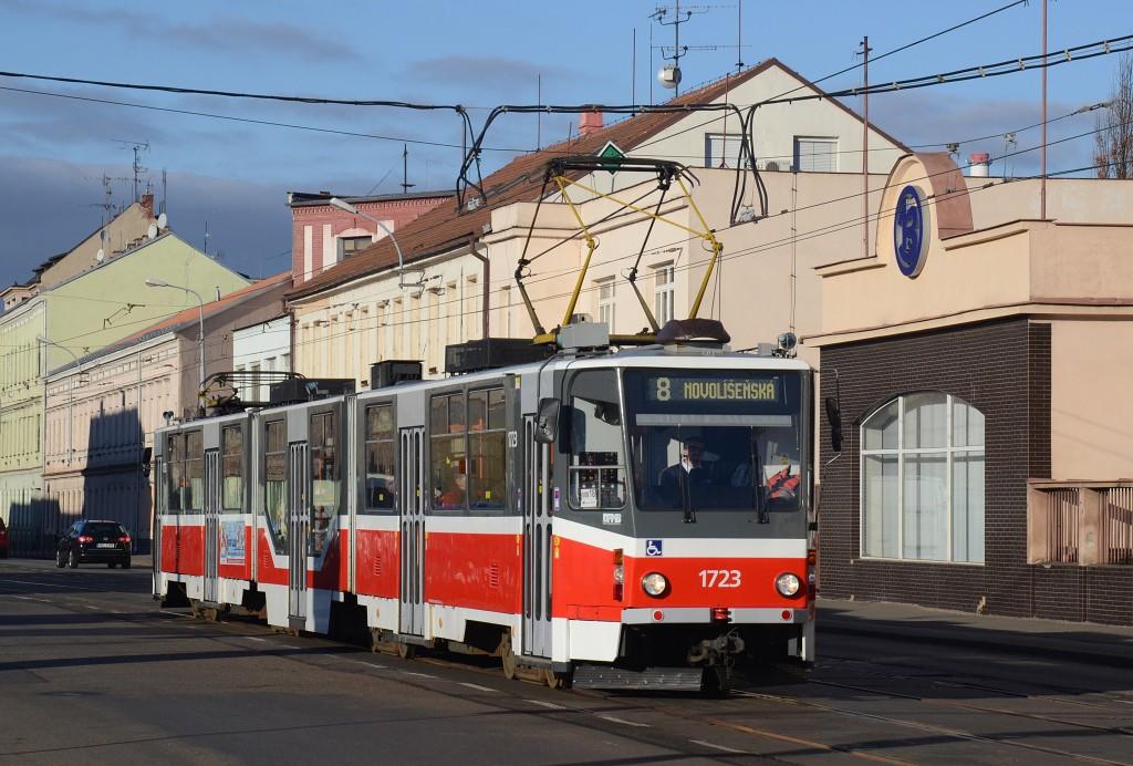 Fotogalerie » ČKD Tatra KT8D5R.N2 1723 | Brno | Židenice | Olomoucká