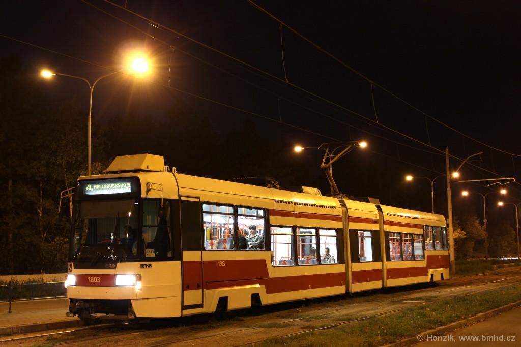 Fotogalerie » ČKD DS RT6N1 1803 | Brno | Černá Pole | třída Generála Píky | Lesnická