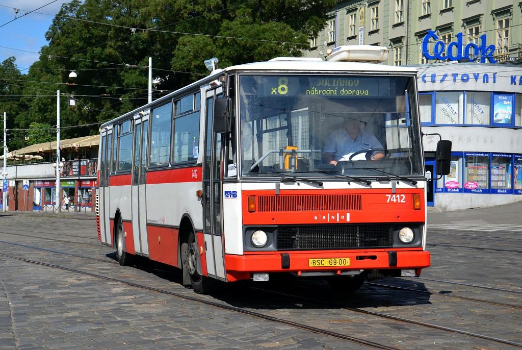 Fotogalerie » Karosa B731.1669 BSC 69-00 7412 | Brno | střed | Nádražní | Hlavní nádraží