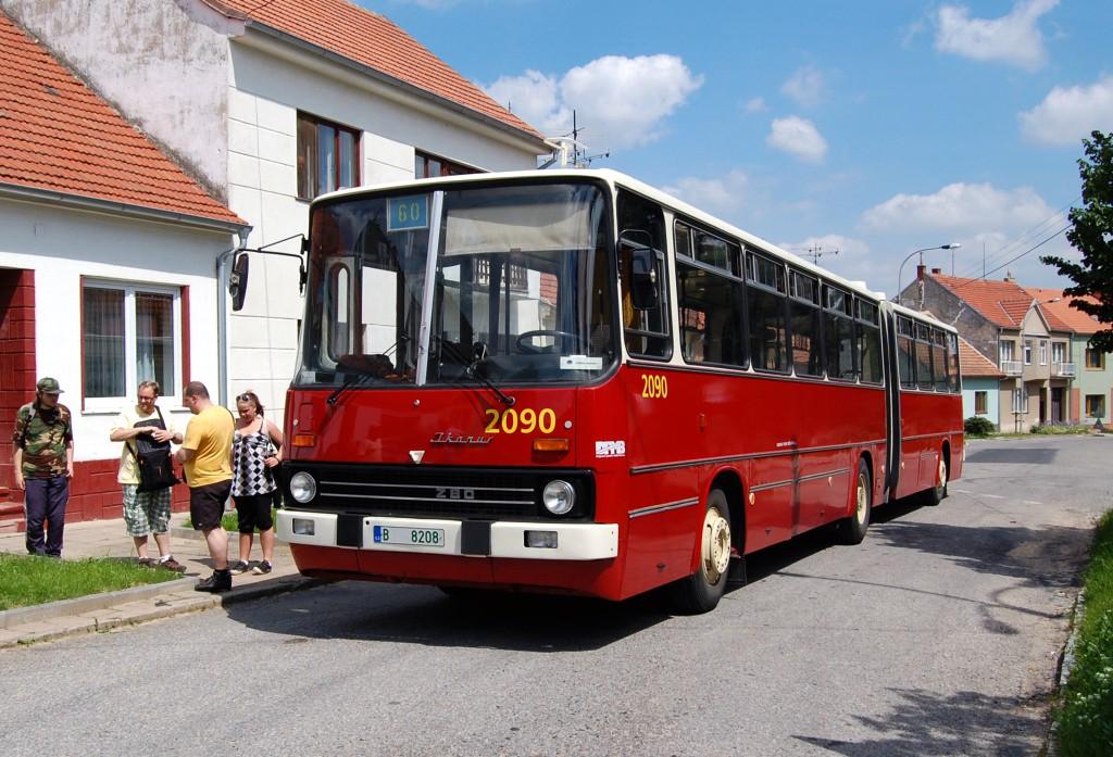 Fotogalerie » Ikarus 280.08 B 8208 2090 | Ostopovice | Osvobození | Ostopovice, smyčka