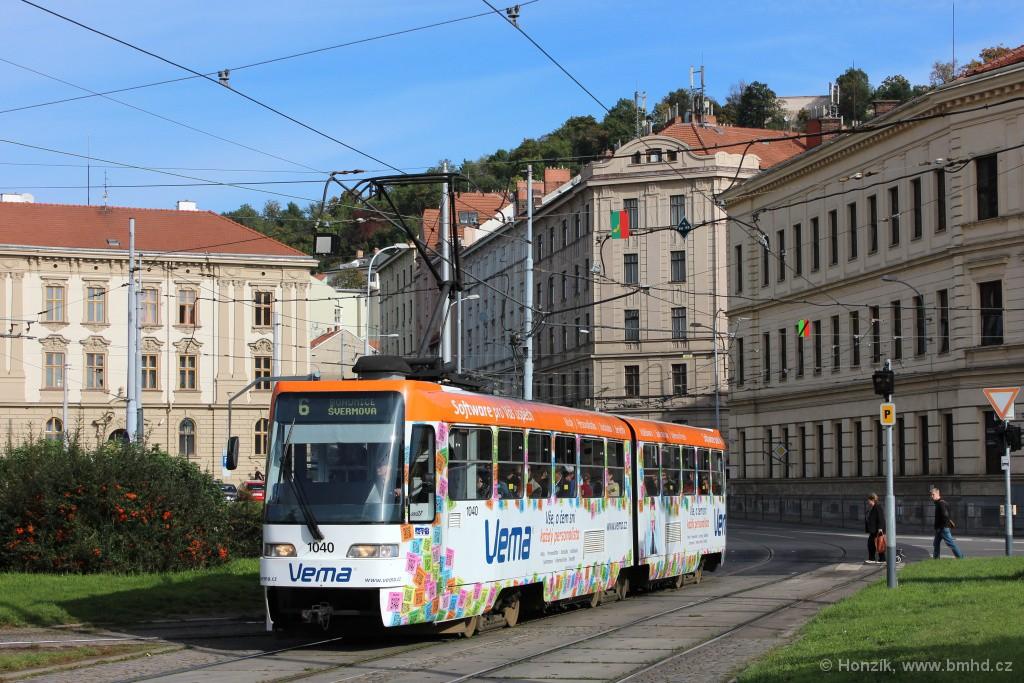 Fotogalerie » ČKD Tatra K2R03-P 1040 | Brno | Staré Brno | Mendlovo náměstí